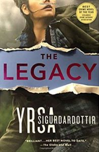 Book Cover image: The Legacy by Yrsa Sigurdardottir